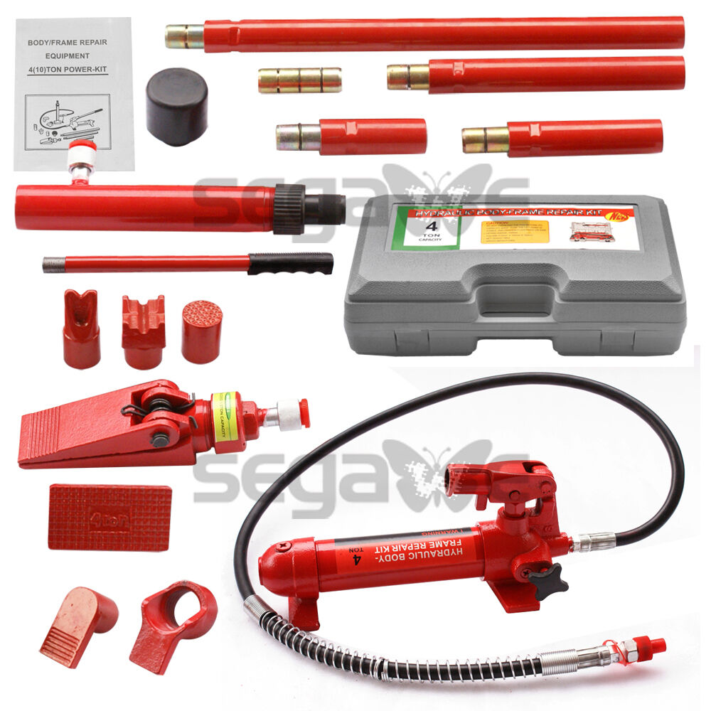 4 TON PORTA POWER HYDRAULIC JACK BODY FRAME REPAIR KIT TOOLS ...