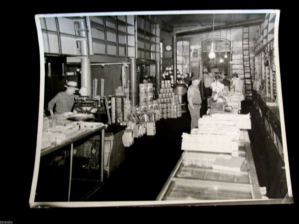 Vintage photo photograph interior old general store bremen indiana hart studio ebay - Inside mobel bremen ...