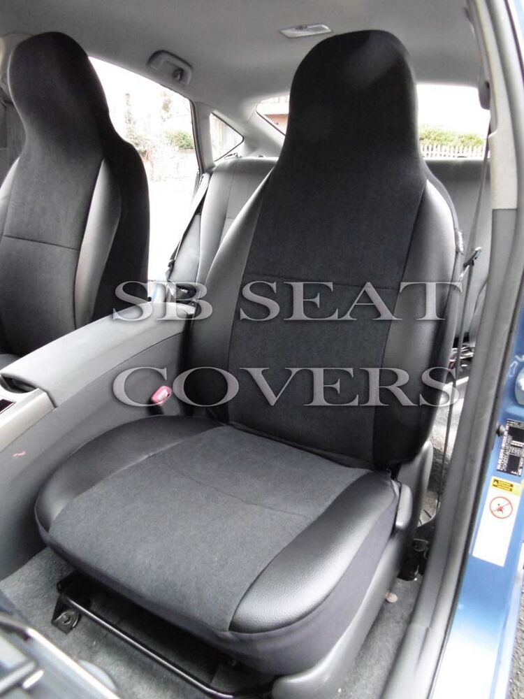 to fit a saab 93 car seat covers ebony black suede leatherette trim ebay. Black Bedroom Furniture Sets. Home Design Ideas