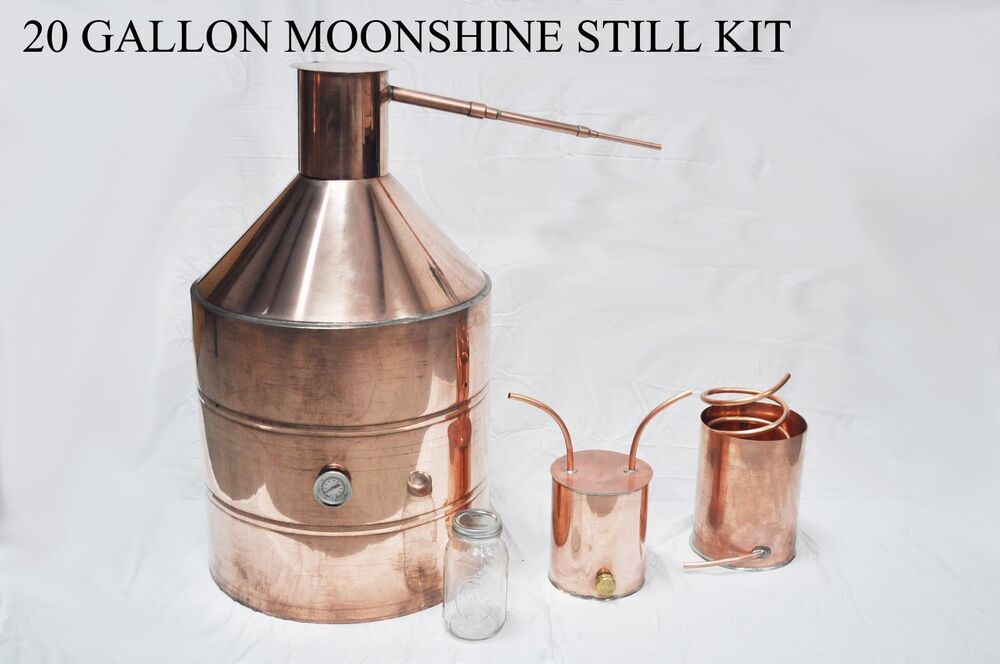 20 Gallon Copper MOONSHINE Still + Worm - FREE RECIPES ...