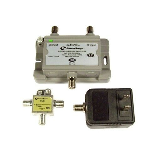 Cable Tv Antenna Signal Booster Amplifier 15db Gain