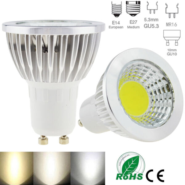 Dimmable GU10 MR16 B22 GU5.3 E27 E14 LED Spot Lights Bulbs 6W 9W 12W Lamp Bright