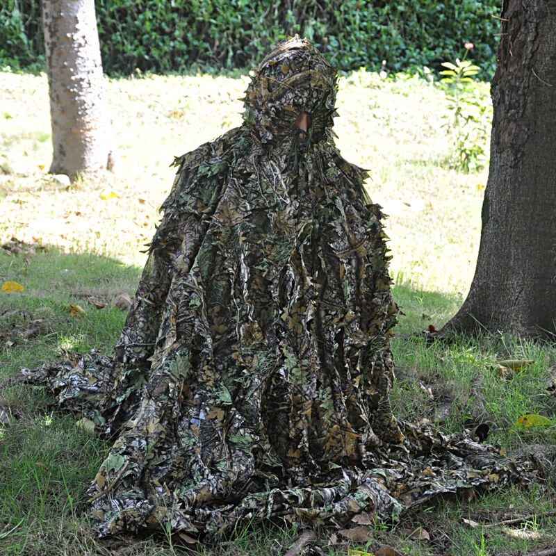 Camouflage Ghillie Suit Cloak Netting Forest Woodland