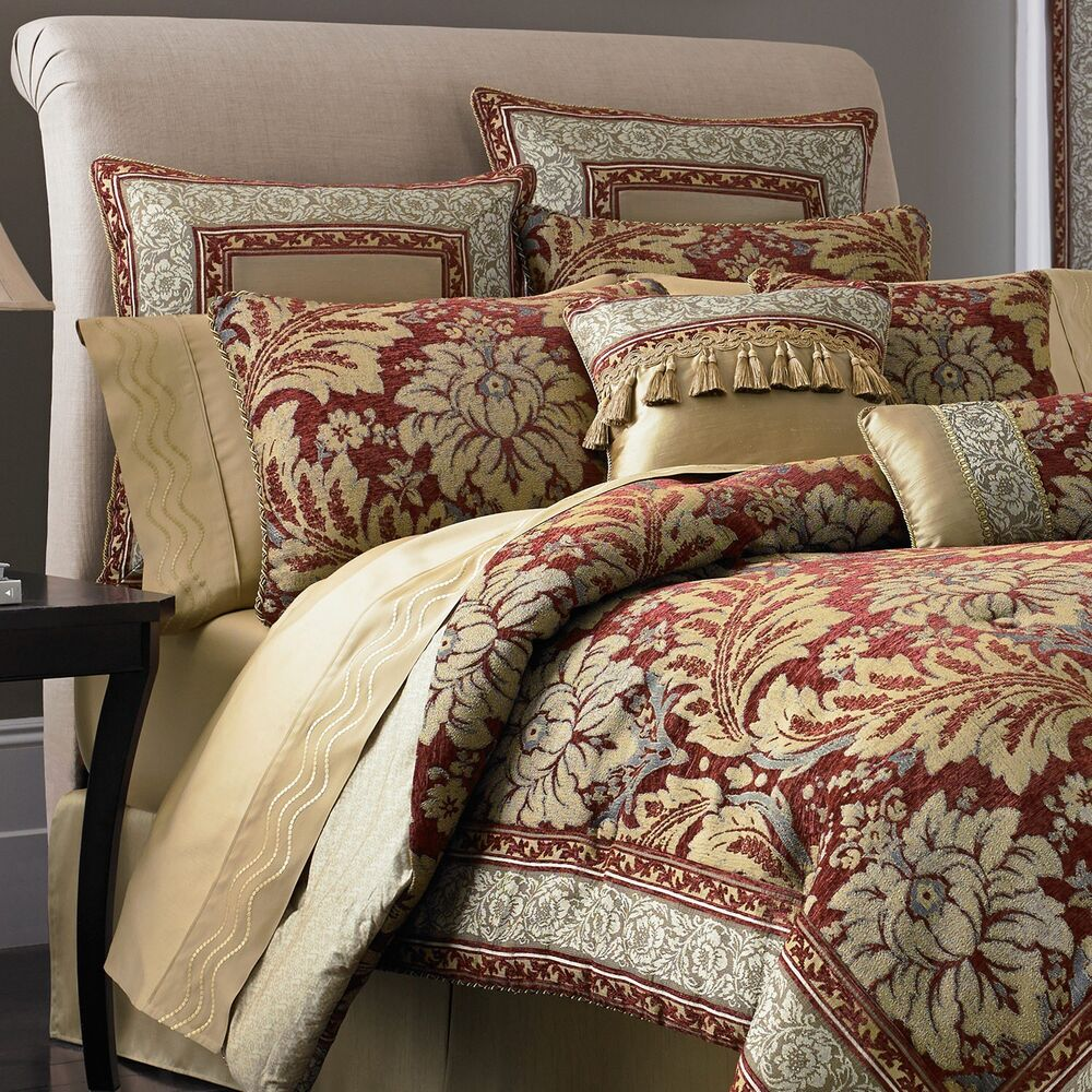 Croscill fresco 7 pc bedding set queen size reversible - Queen size bedroom sets clearance ...