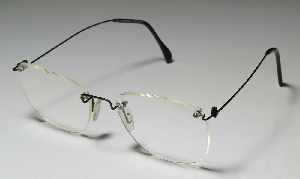 new 6 52 18 140 black rimless vision care ophthalmic