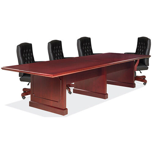 6 12 ft traditional conference room table and chairs set boardroom with office ebay. Black Bedroom Furniture Sets. Home Design Ideas