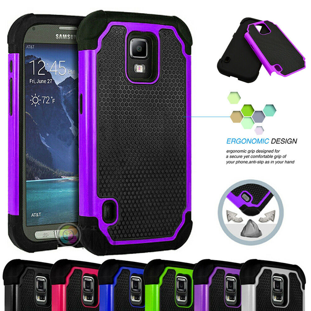 new concept c66ef 1a04f Hybrid Rugged Rubber Hard Shockproof Cover Case For Samsung Galaxy S5  Active | eBay