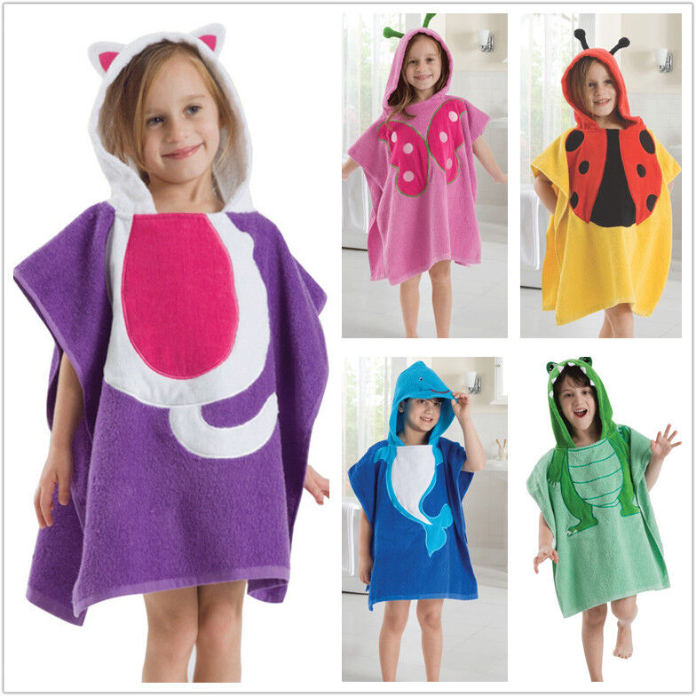 kids hooded beach towels. Kids Children\u0027s Cartoon Beach Pool Swimming Towel Hooded Poncho Bath | EBay Towels H