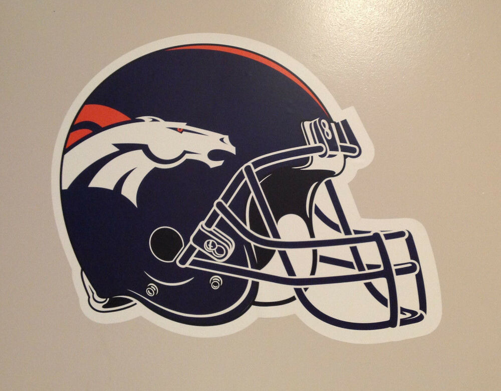 Football Helmet Vinyl Wraps : Denver broncos fathead official team helmet graphic quot