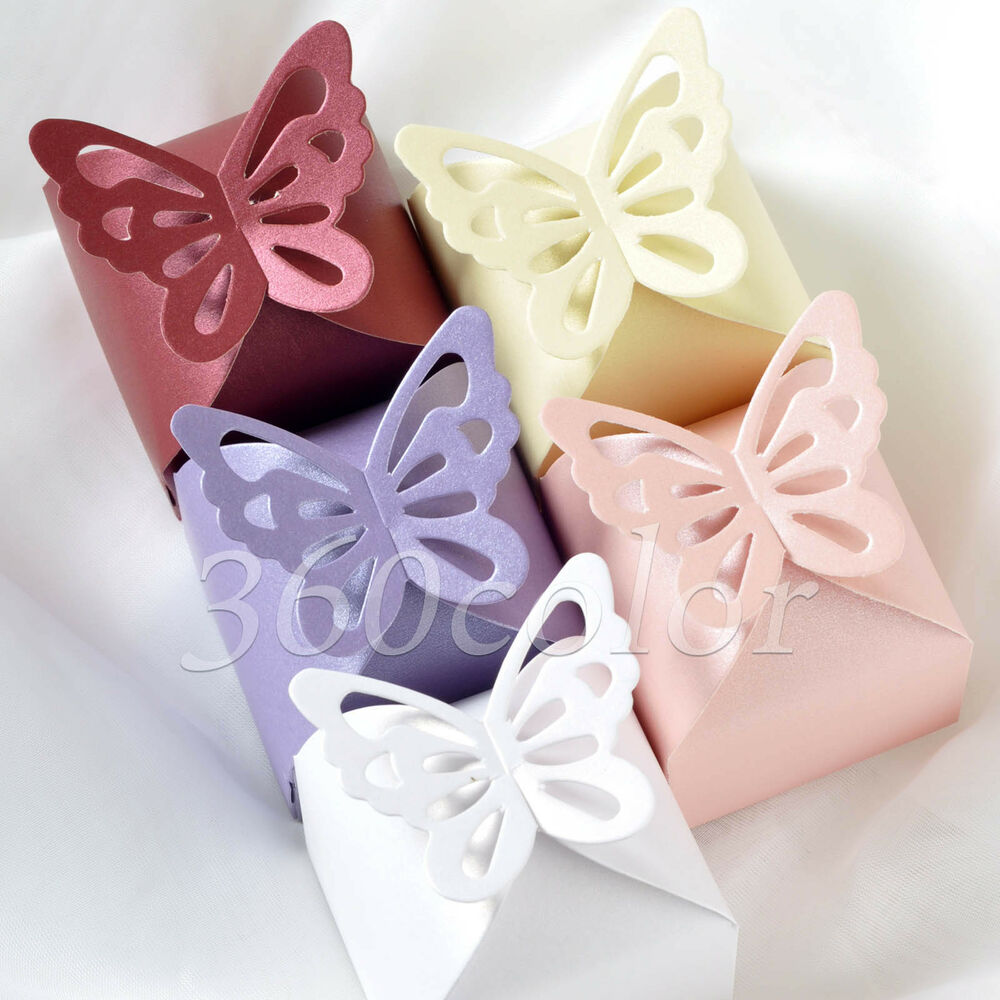 Wedding Gift Boxes Ebay : ... Pattern Wedding Party Favor Gift Box Ribbon Candy Boxes eBay