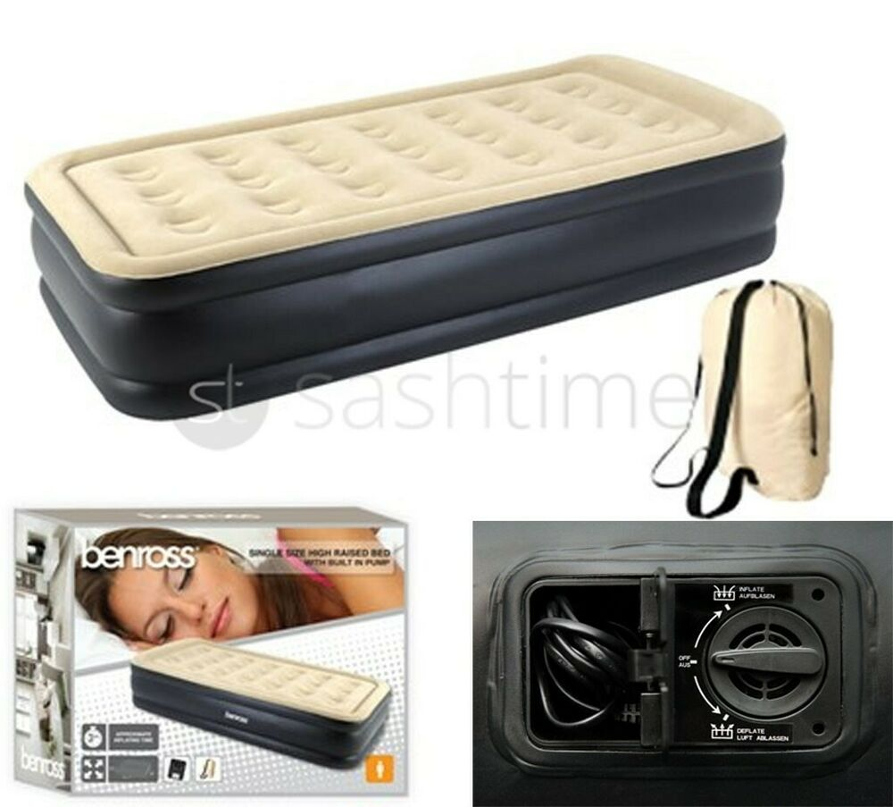 Children Kids Flocked Single Airbed Blow Up Bed Camping Inflatable Mattress