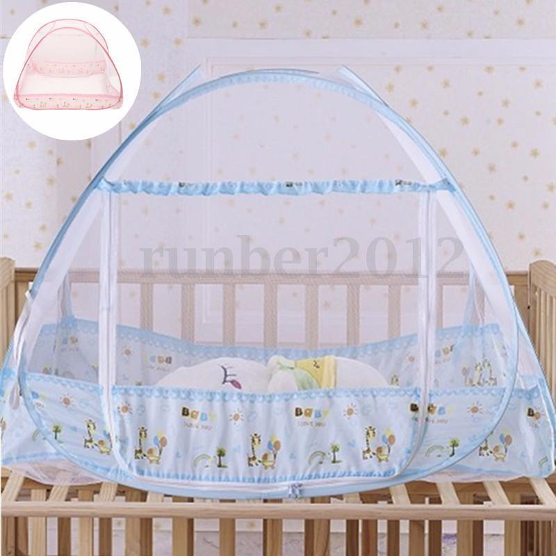 100x80cm portable foldable baby kids toddler bed crib for Baby crib net