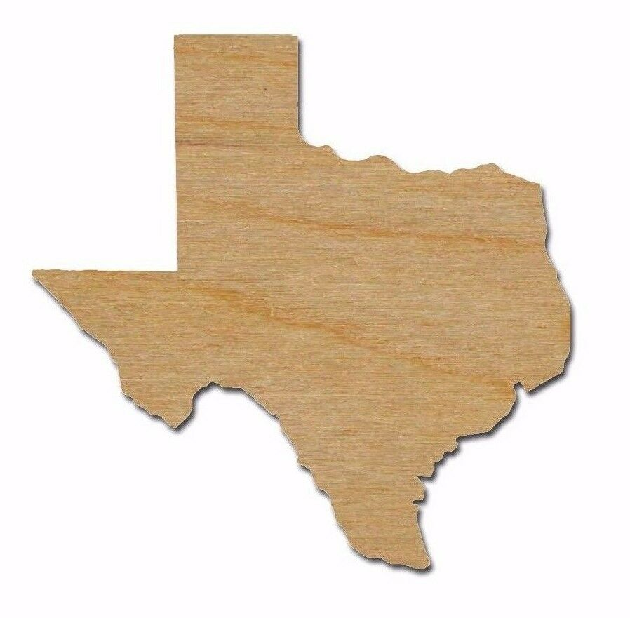 Texas state wood shape cut out unfinished wooden laser cut for Wooden craft supplies online
