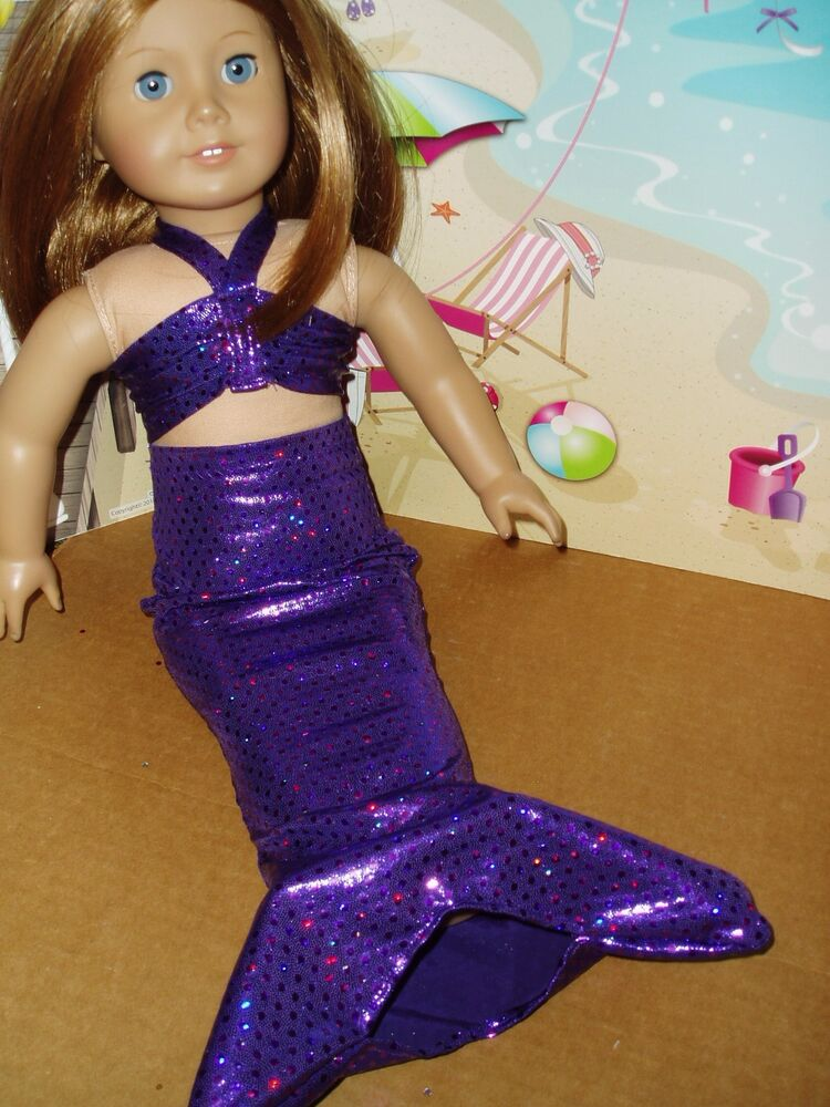 Purple Mermaid Outfit Fits American Girl Dolls 18 Inch