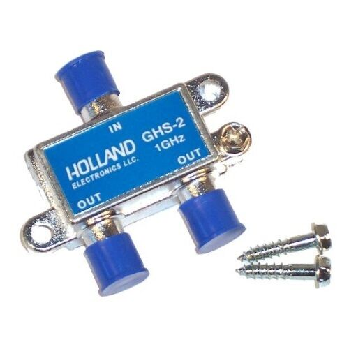 Cable Tv Signal Splitters : Way cable tv antenna signal splitter ghz holland