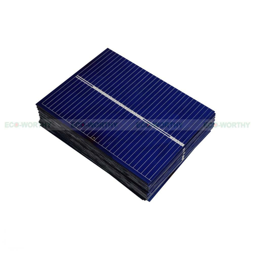 Total 20pc 52x39mm Solar Cell Cells Polycrystalline For