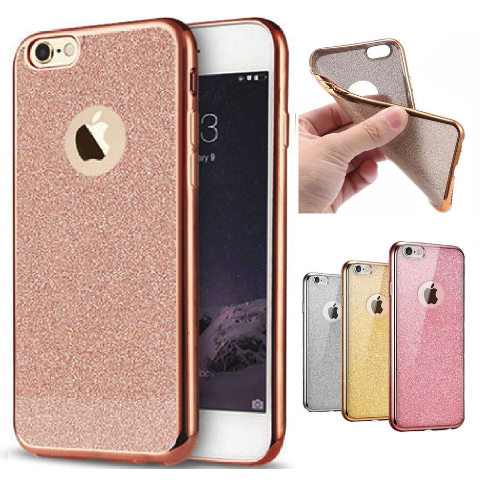 Contact Case: Bling Silicone Glitter Shock Proof Phone Case Cover For