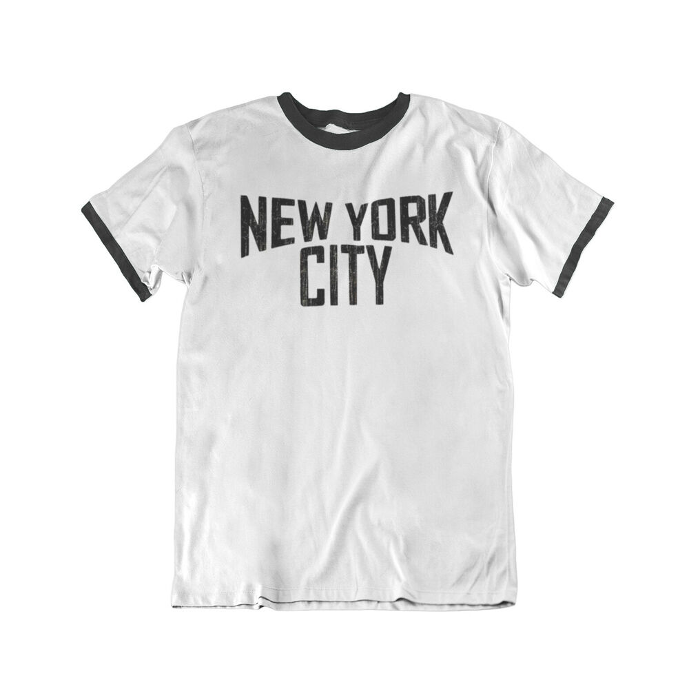 New York CITY Lennon Mens RINGER T-Shirt Birthday Gift
