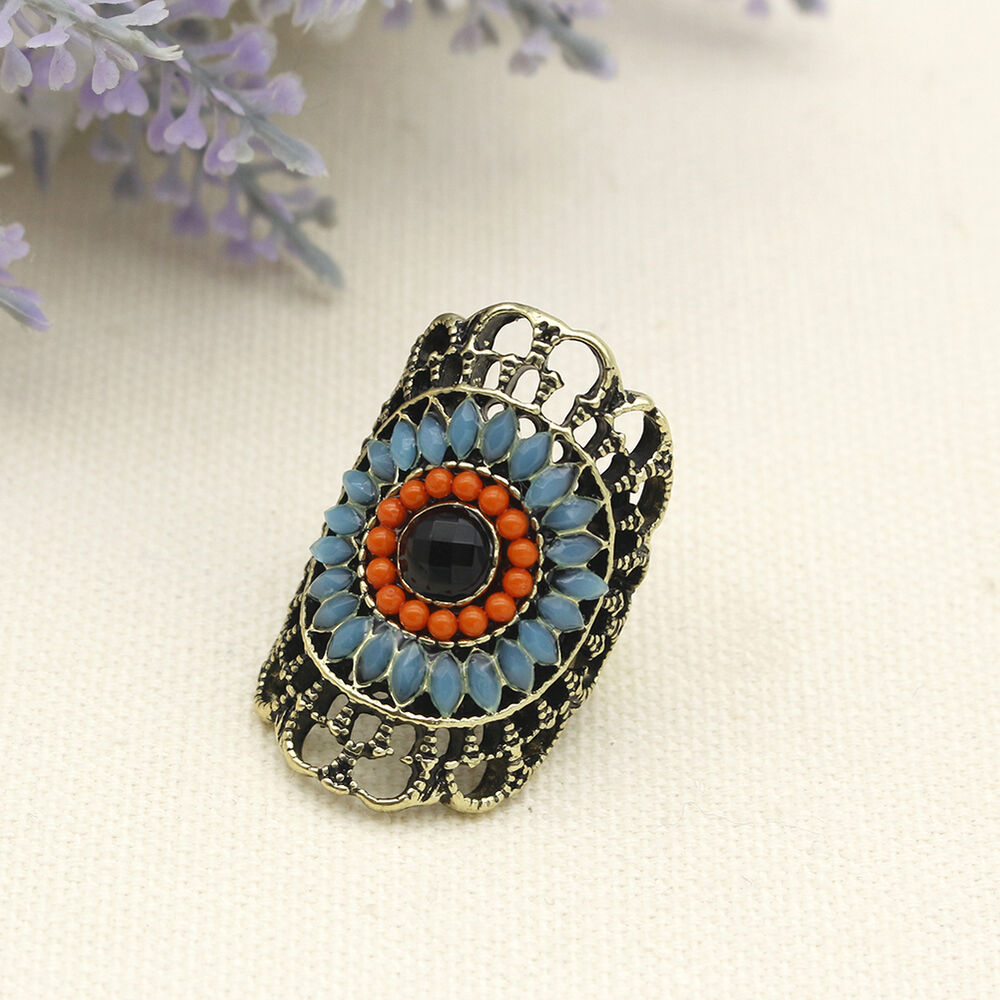 fashion big eye design copper rings