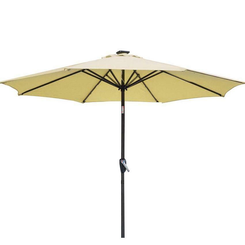 Beige Patio Umbrella 9 39 Aluminum Patio Market Umbrella