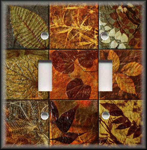 Tile Decor Store: Rustic Leaf Tile Image Rust Brown