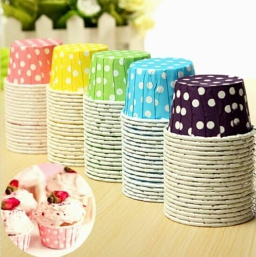 Paper Cupcake Cups : Fd cake baking paper cup cupcake muffin cases candy