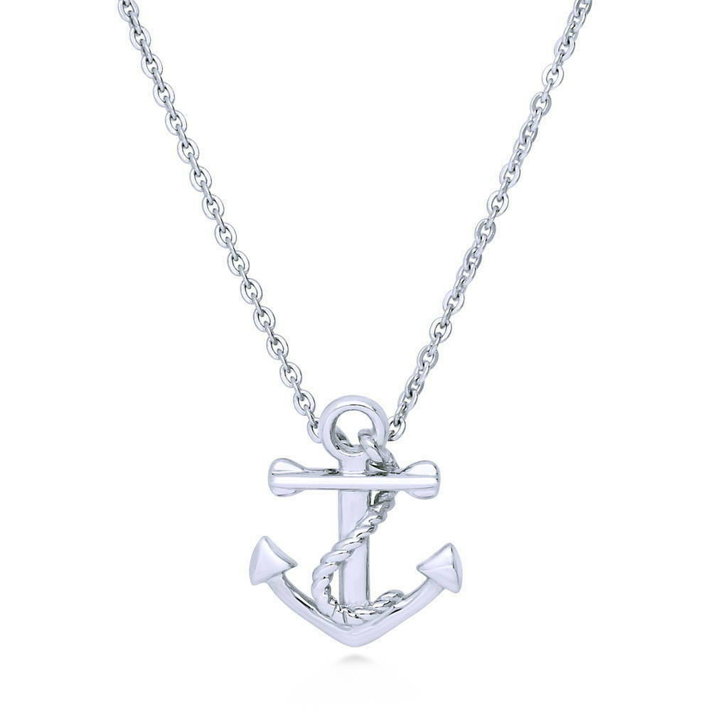berricle jewelry berricle sterling silver anchor fashion pendant necklace 5793