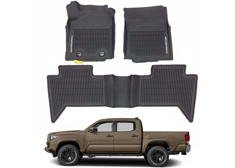 Toyota Floor Mats >> OEM PT908-36164-20 All Weather Floor Mats For 2016-2017 Toyota Tacoma Double Cab | eBay