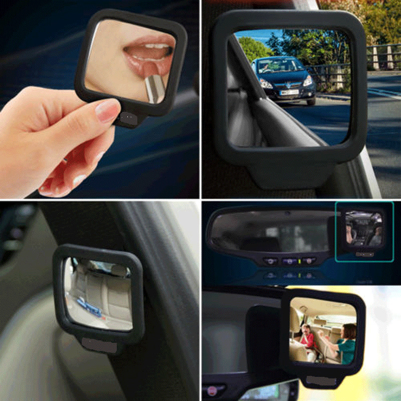 Adjustable Blind Spot Mirror Stick Wide Angle Car Rv Truck