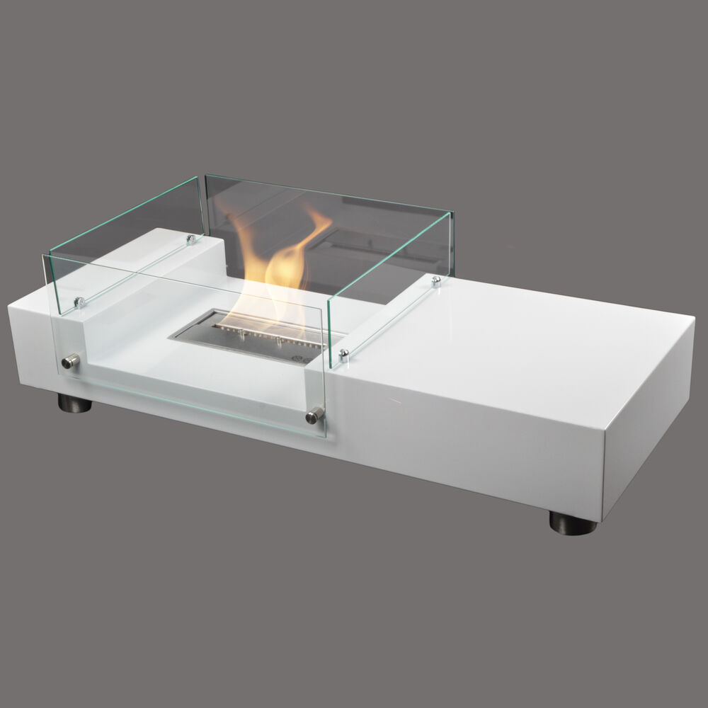 seattle bio ethanol kamin couchtisch wei wohnzimmertisch luxuskamin tischkamin ebay. Black Bedroom Furniture Sets. Home Design Ideas