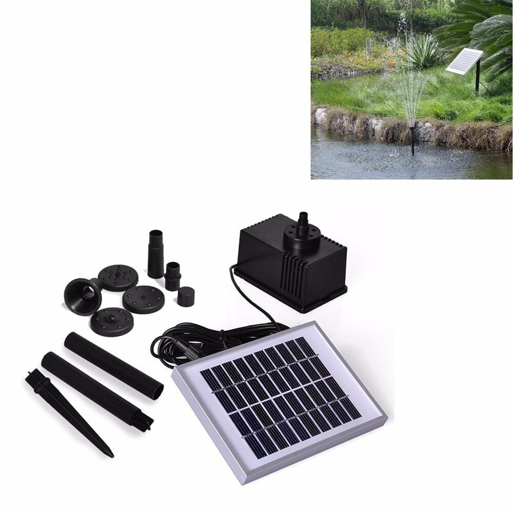 2w solar teich pumpe garten solarteichpumpe wasserspiel font ne springbrunnen ebay. Black Bedroom Furniture Sets. Home Design Ideas