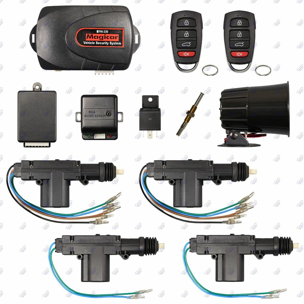 Remote Car Alarm Keyless Entry Security 4 Door Power Lock Actuator 1991 Mitsubishi Laser Talon Fuse Box Diagram Motor Kit Ebay