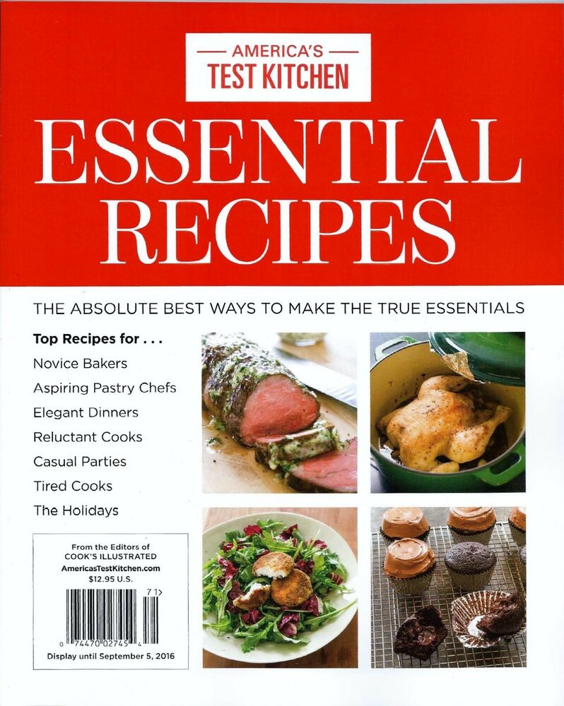 Cooks Test Kitchen Recipes