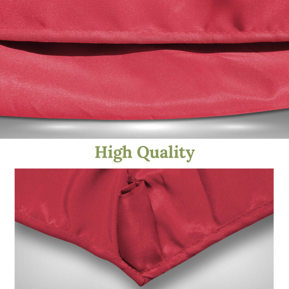 9ft patio umbrella cover canopy 6 ribs replacement parasol top outdoor ebay. Black Bedroom Furniture Sets. Home Design Ideas