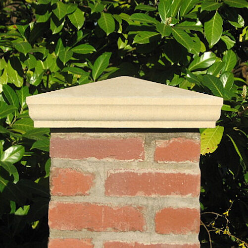 Natural Stone Pillars Caps : Pier caps pillar from acanthus cast stone ebay