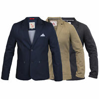 Mens Slim Fit Casual Patches Jacket Blazer By Brave Soul