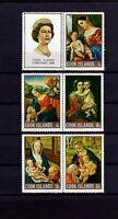 COOK IS - 1968 - QE II - CHRISTMAS - MADONNA - HOLY FAMILY - MINT SET + LABEL!