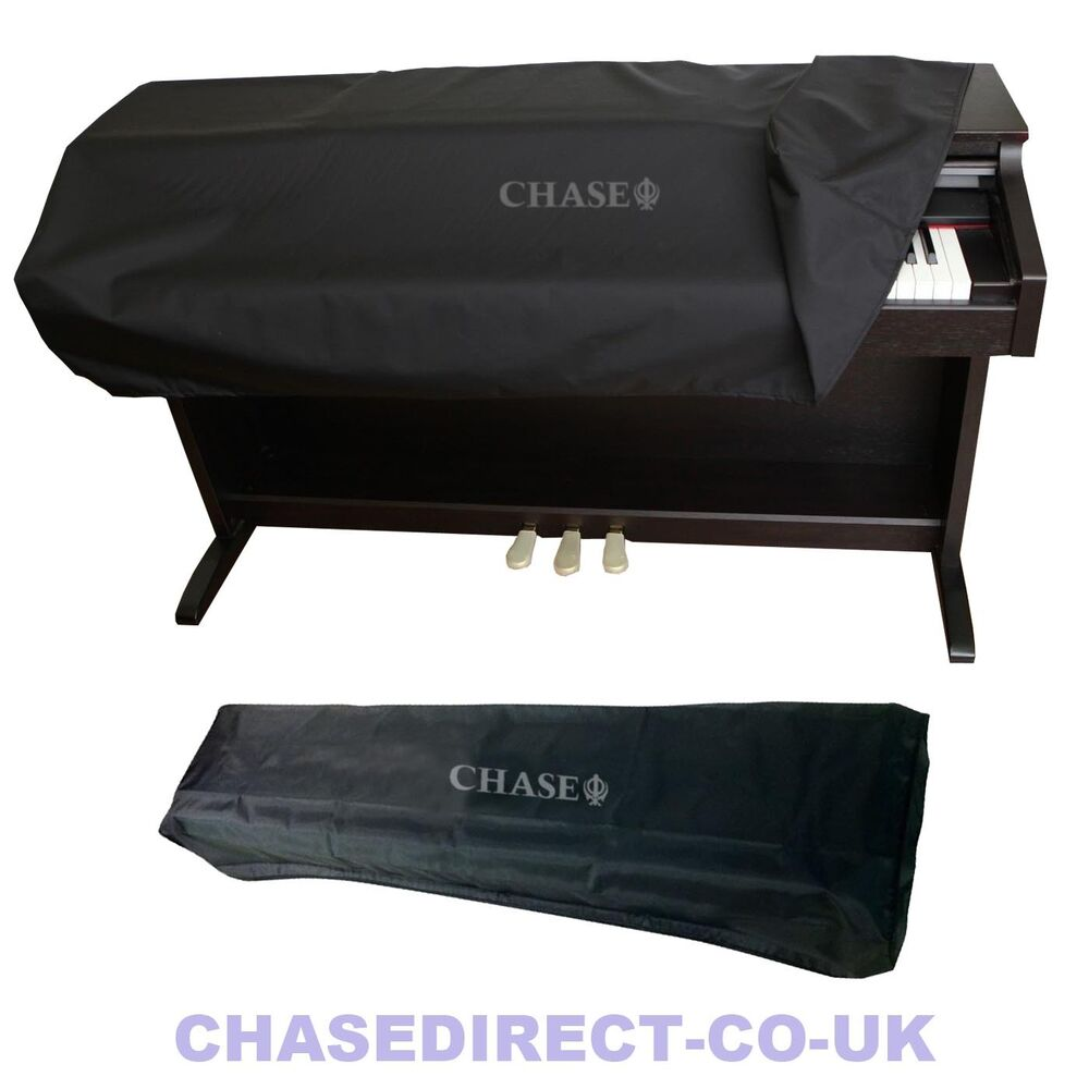 chase digital piano dust cover for yamaha casio roland upright stage keyboard ebay. Black Bedroom Furniture Sets. Home Design Ideas