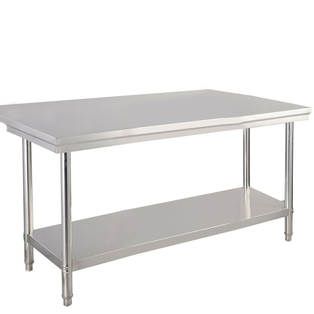 30 x 48 stainless steel commercial kitchen work food prep table 48 x30 x 31 5 ebay - Ebay kitchen table ...
