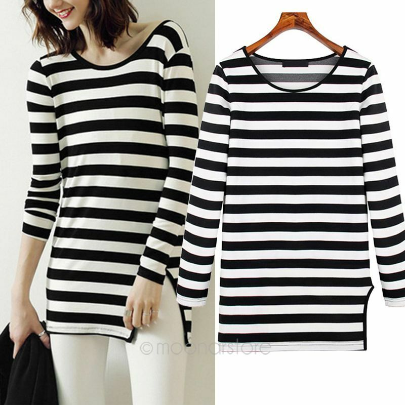 Striped Long Sleeve Shirt Womens