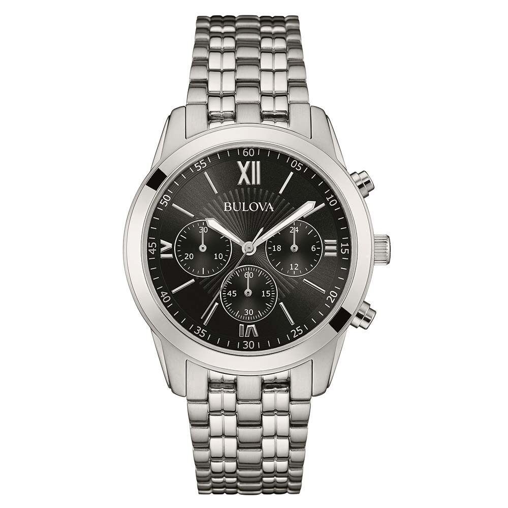 Bulova 96a175 mens silver tone chronograph watch rrp 199 ebay for Watches on ebay
