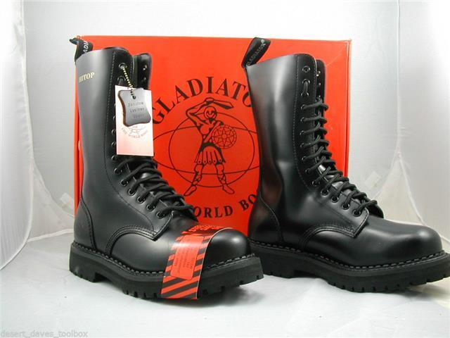 GLADIATOR 14 EYELET BOOTS, STEEL TOE CAP, MADE IN ENGLAND ...