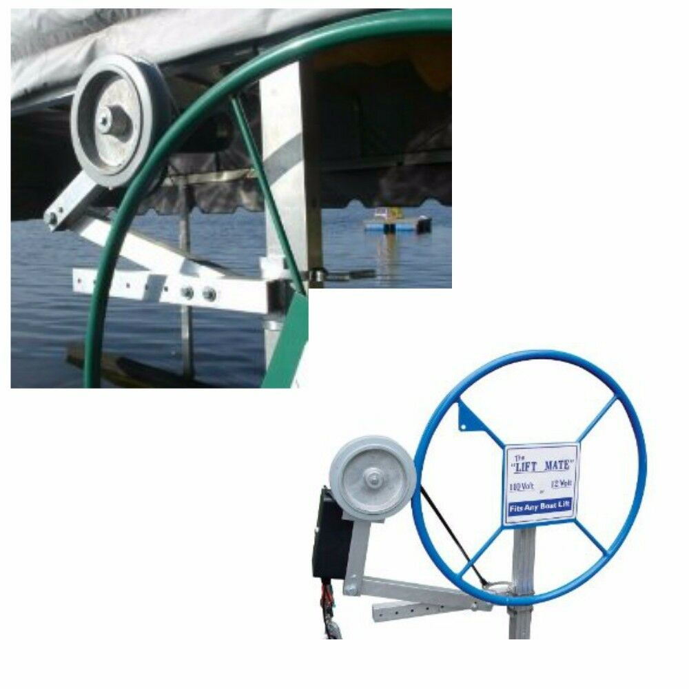 Lift mate universal boat lift motor attachment fits any for Electric boat lift motor
