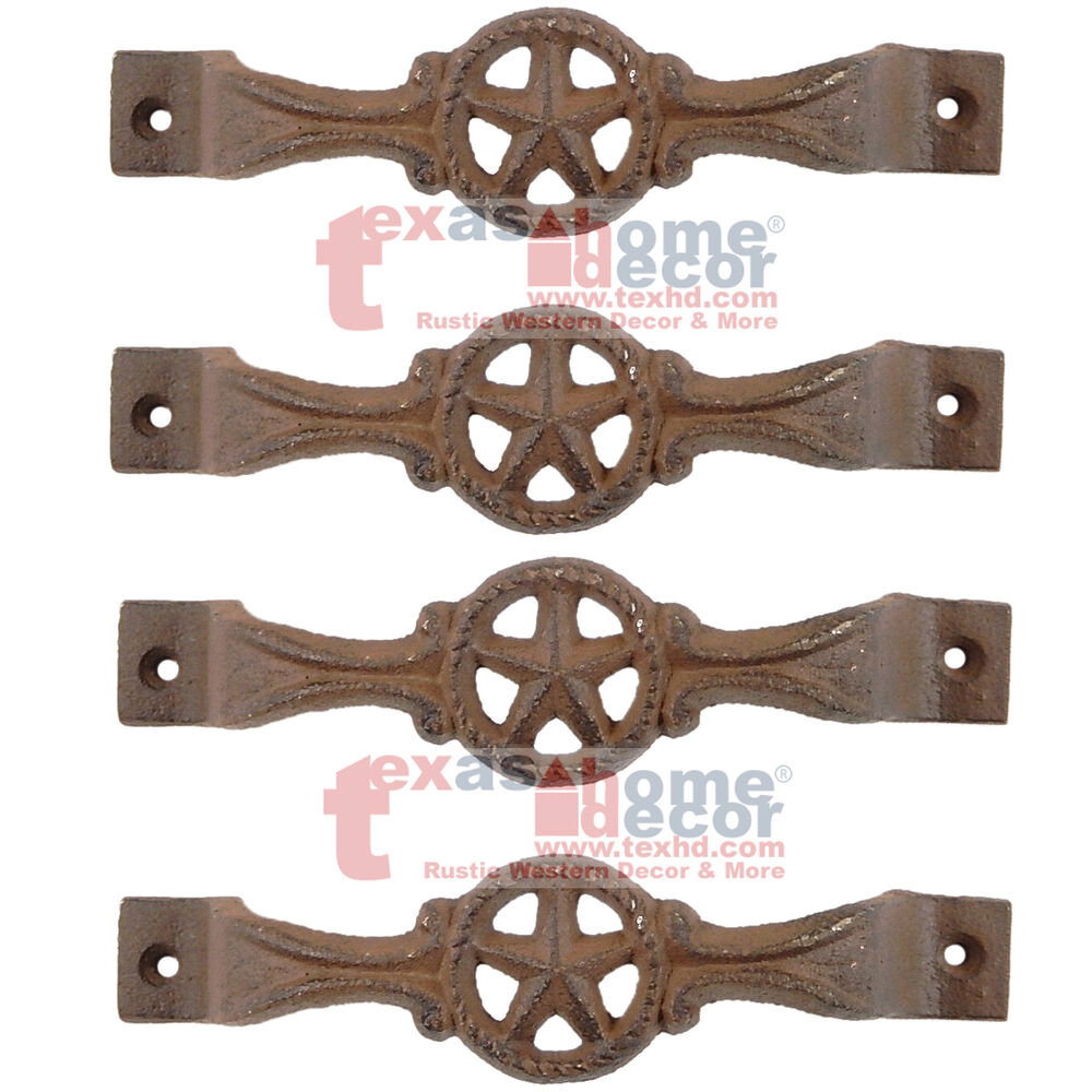 Rustic Barn Door Handles And Pulls: 4 Star Cast Iron Antique Style RUSTIC Barn Handle, Gate