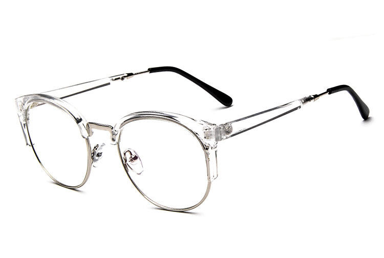 Half Frame Vintage Glasses : Vintage Antique Myopia Half Frame Plain glasses Eyeglass ...