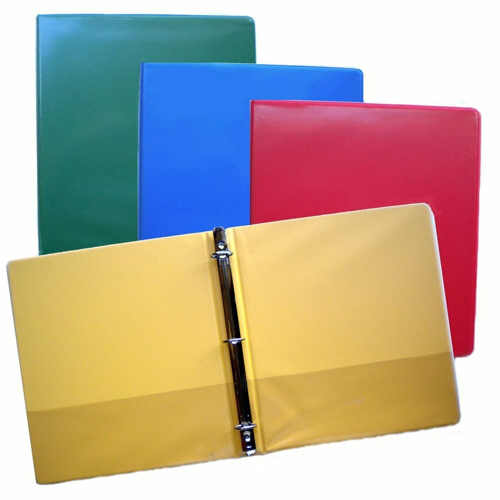 Blue, Green, Red And Yellow 3-Ring Binders, 1.5 Inch