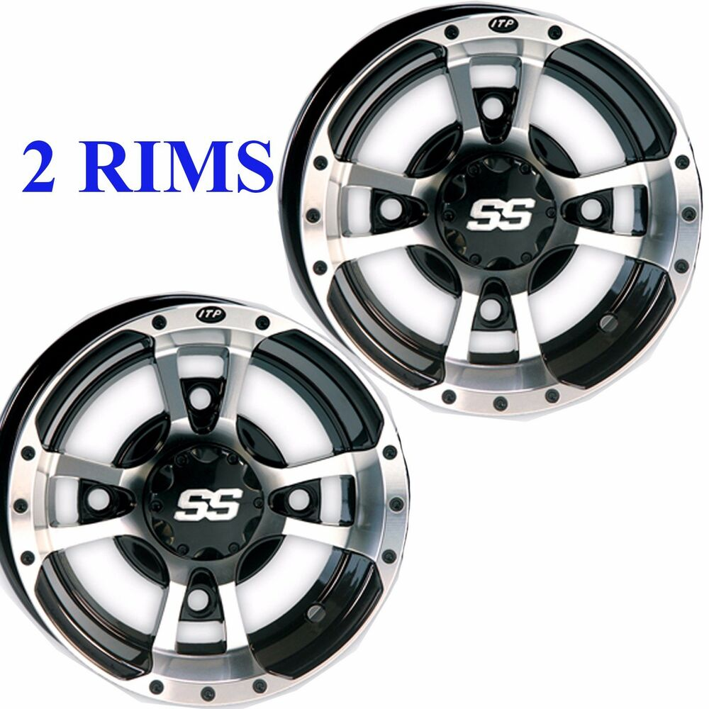 Atv Rims Wheel Covers : Two itp ss  sport atv rim wheel fits some