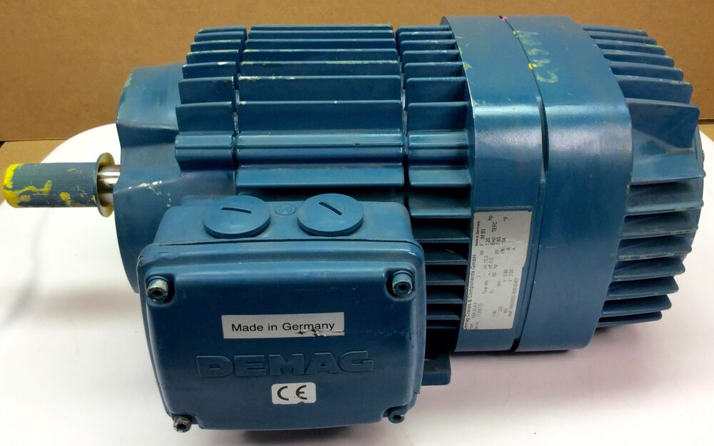 Demag Kba90a6 Brake Motor Hp 230 460vac 3ph 1140 Rpm
