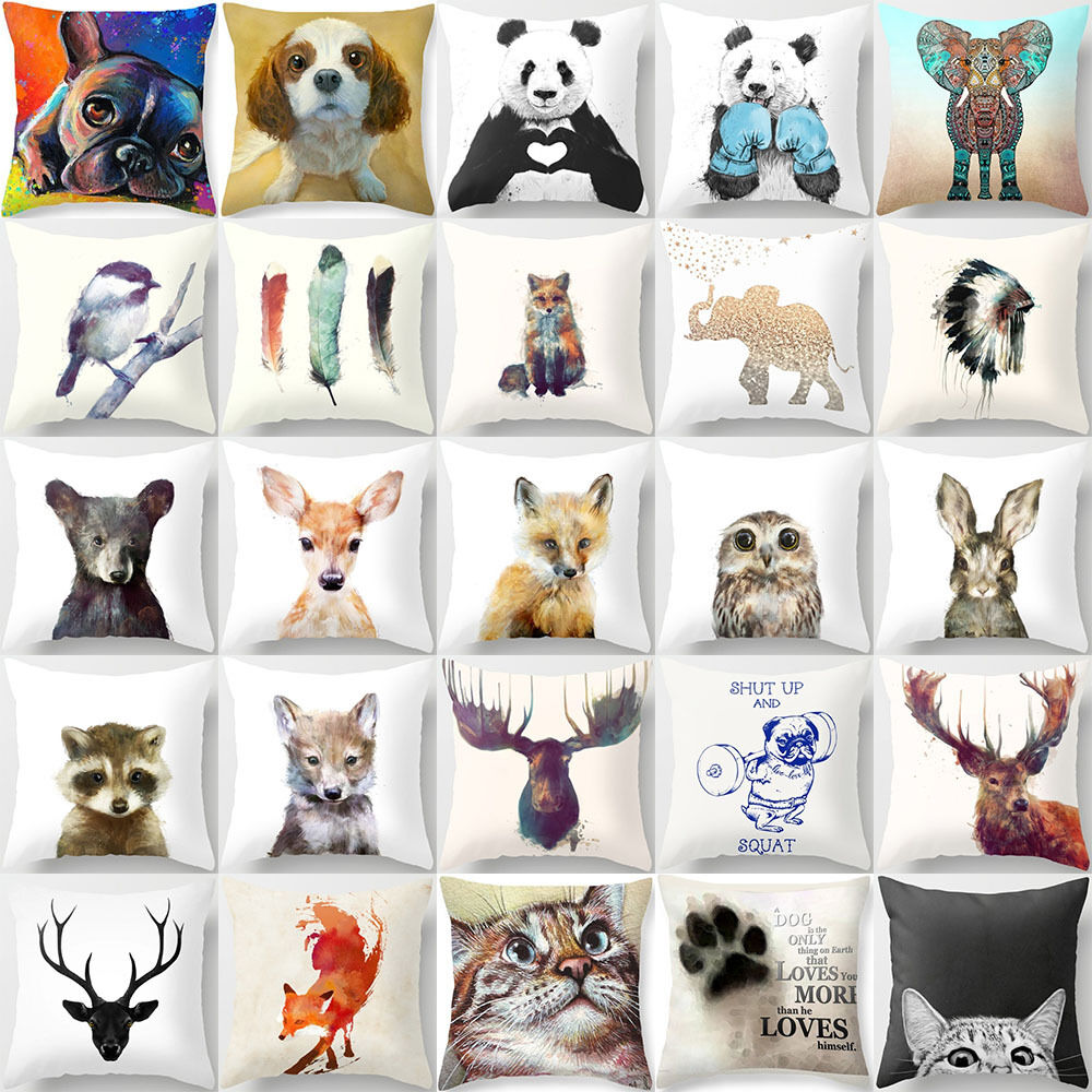 How To Make Cute Animal Pillows : 18 Inch Cute Animal Pillow Cover Throw Pillow Case Sofa Cushion Cover Home Decor eBay