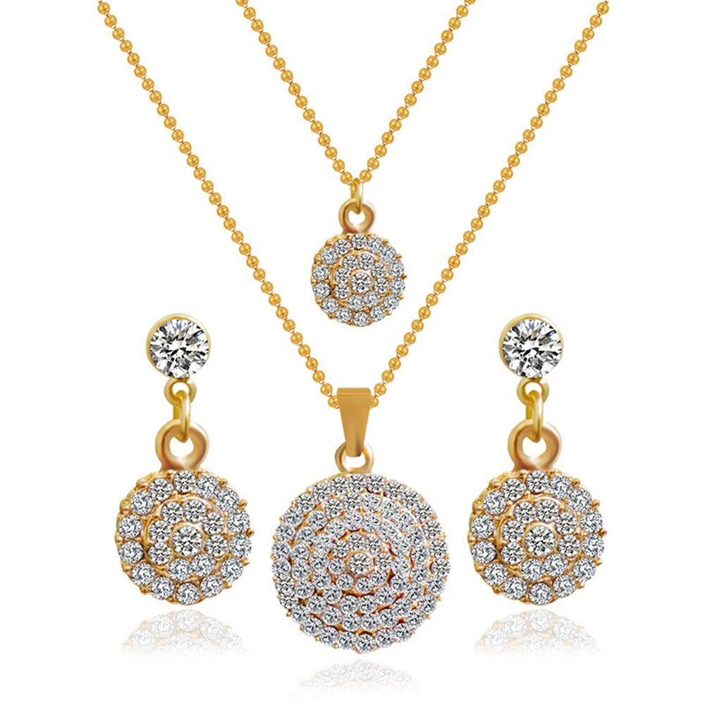 White rhinestone gold plated stud earrings double pendant for Is gold plated jewelry worth anything